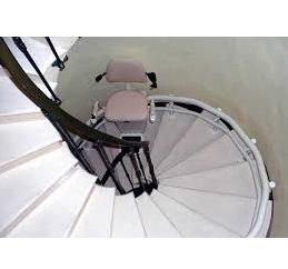 Description monte-escalier colimaçon