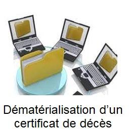 Qu'en est il du fichier dématérialisation d'un certificat de décès?